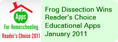 Frog Dissection Wins Reader�s Choice Educational Apps January 2011
